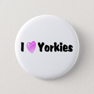 I Love Yorkies 2 Inch Round Button