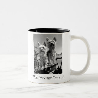 I Love Yorkshire Terriers Black and White Mug