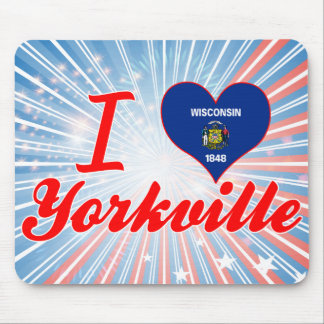 I Love Yorkville, Wisconsin Mouse Pad