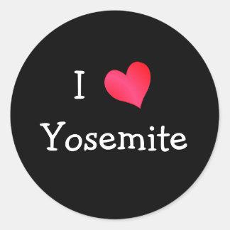 I Love Yosemite Classic Round Sticker