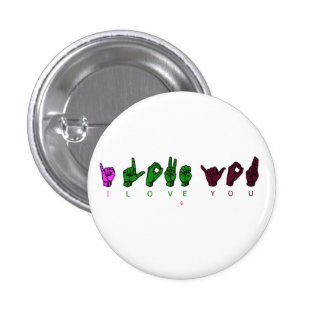 I LOVE YOU 1 INCH ROUND BUTTON