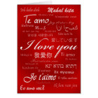 I Love You (30 Languages) Card