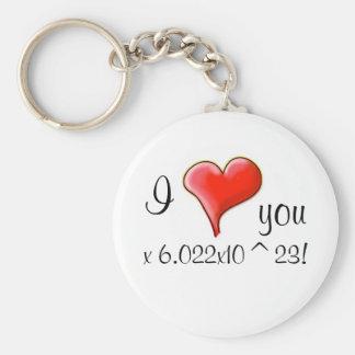 I love you 6.022x10^23! keychain
