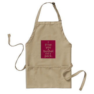 """I LOVE YOU A BUSHEL/A PECK"" APRON"