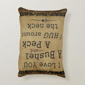 I love you a bushel and a peck pillow