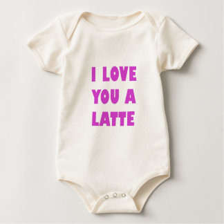 I Love You a Latte Baby Bodysuit