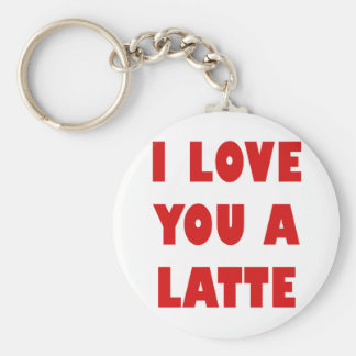 I Love You a Latte Keychain