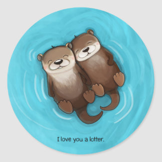 I Love You a Lotter Sticker