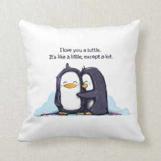 I LOVE You a Lottle Penguins - Pillow
