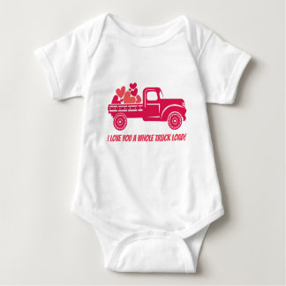 I love you a whole truck load! baby bodysuit