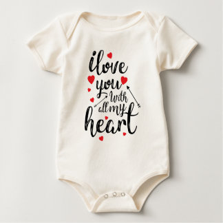 I Love You All My Heart Valentine | Bodysuit