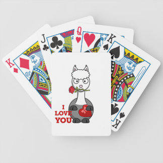 i love you alpaca bicycle playing cards