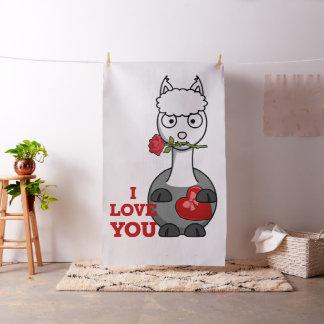 i love you alpaca fabric