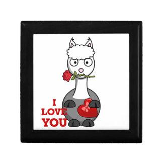 i love you alpaca gift box