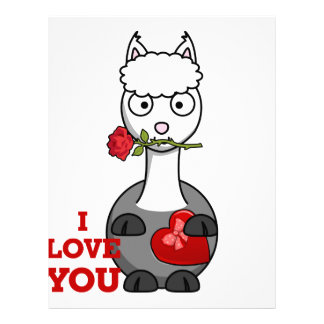 i love you alpaca letterhead