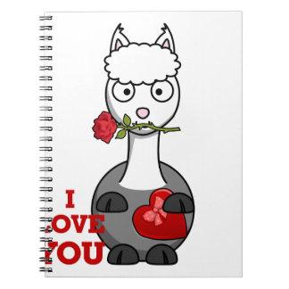 i love you alpaca notebook