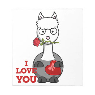 i love you alpaca notepad