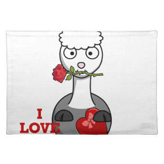 i love you alpaca placemat