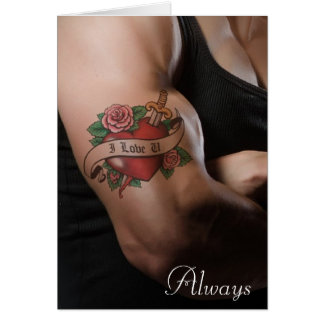 """I Love You"" Always Romantic Message Card"