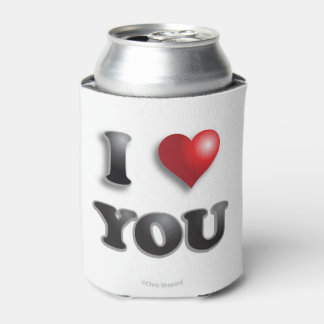 I LOVE YOU Anti Microagression Positive Good Happy Can Cooler