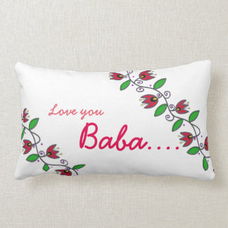 I Love You Baba Eternity vine pillow