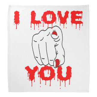 I Love You Bandana