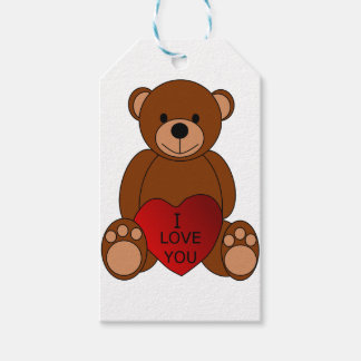 I Love You Bear Gift Tag Pack Of Gift Tags