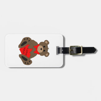I Love You Bear Luggage Tag