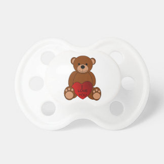 I Love You Bear Pacifier