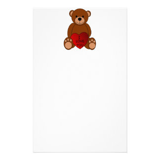 I Love You Bear Stationery