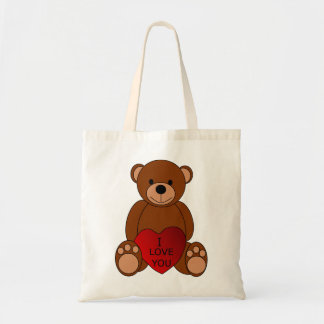 I Love You Bear Tote Bag