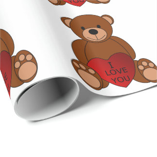 I Love You Bear Wrapping Paper