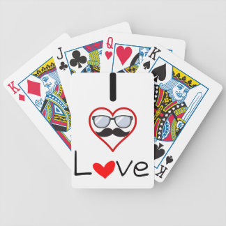 I Love You Bicycle Playing Cards