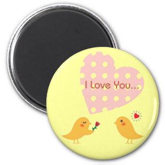 I Love You Bird Design2 Magnet