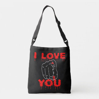 I Love You Black Crossbody Bag