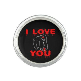 I Love You Black Ring