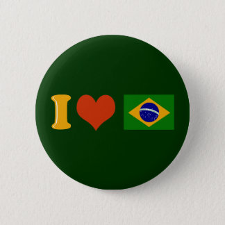 I love you Brazil 2 Inch Round Button