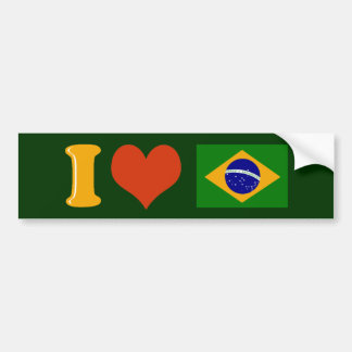 I love you Brazil Bumper Sticker
