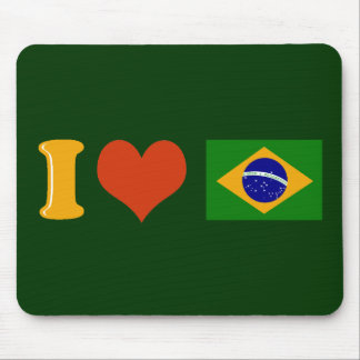 I love you Brazil Mouse Pad