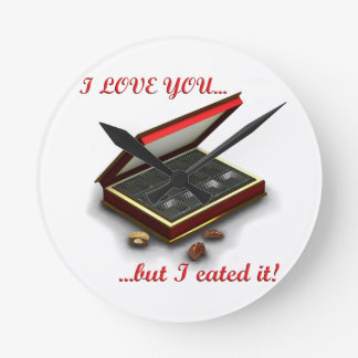 I love you, but I eated it! Wall Clock