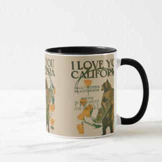 I love you California Bear 11 oz Ringer Mug