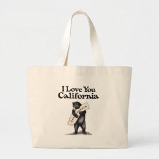 I Love You California Bear Hug Large Tote Bag