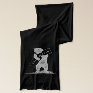 I Love You California--Black and Silver Scarf