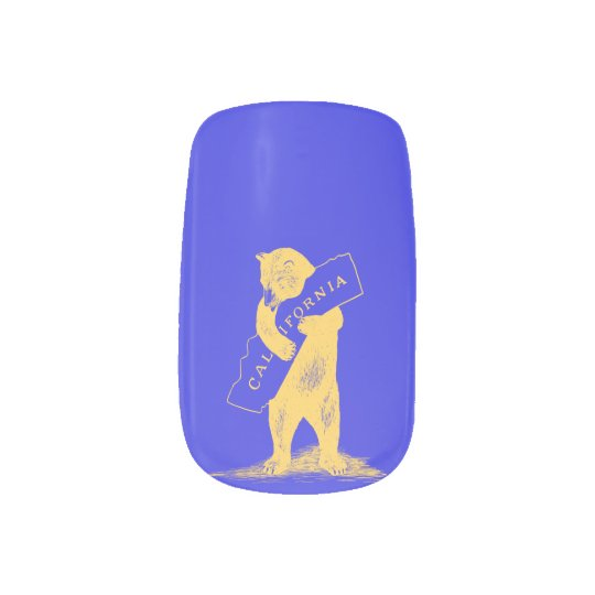 I Love You California--Blue and Gold Fingernail Decals