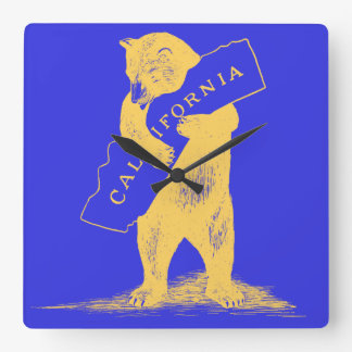 I Love You California--Blue and Gold Wallclock
