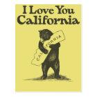 I Love You California Postcard