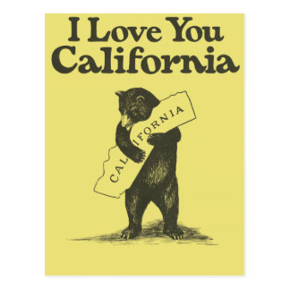 I Love You California Postcard