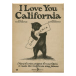 I Love You California Poster