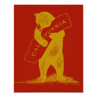 I Love You California--Red and Gold Posters