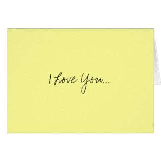 I Love You... Card